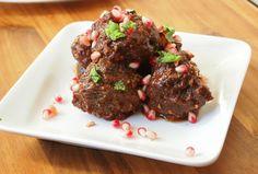 Pomegranate BBQ Sauce Meatballs
