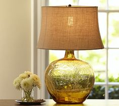 Table Lamps: Clift Glass Jug Table Lamp Base, Amber - i love this lamp