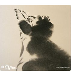 Beautiful sumi-e art blog.  Here is a cat.