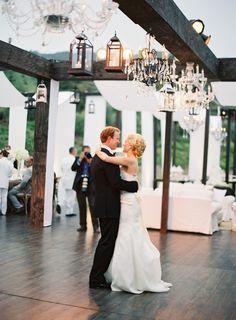 Dancing under lanterns.