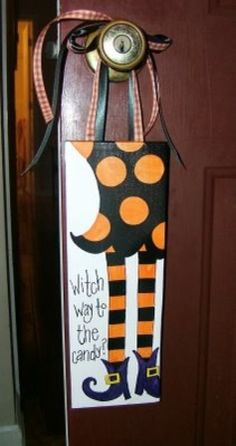 Skinny Witch Legs Boots Halloween Canvas