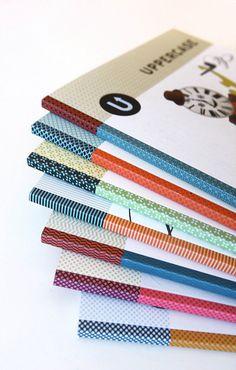 Multicoloured spines of Uppercase Magazine #yam