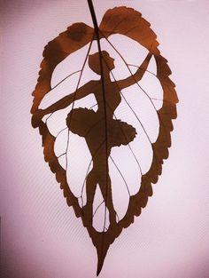 creativ, danc, amaz leaf, beauti, leaf art, ballerina, ballet, leaves, leafart