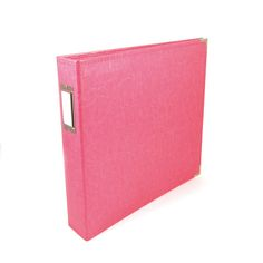 We R Memory Keepers - Classic Leather - 12 x 12 - Three Ring Albums - Strawberry at Scrapbook.com $29.99