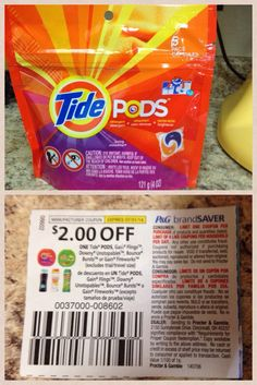 Coupon Tip, $0.99 Tide Pods!
