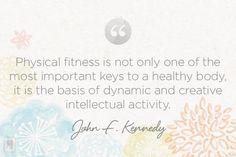 Monday Meditation: Kennedy on the Importance of Fitness | via The Honest Company blog