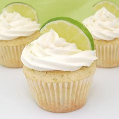 Margarita Cupcakes with Tequila Lime Buttercream Frosting