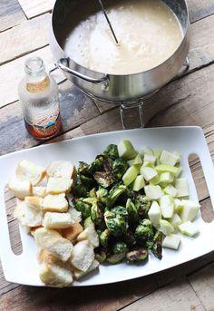 Cheese fondue via A Beautiful Mess blog