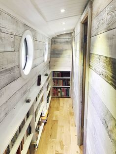 Wide beam, Bespoke Widebeam Builders - Whitewashed Bookshelf