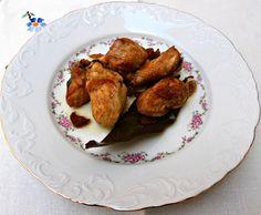 Pollo frito con ajos