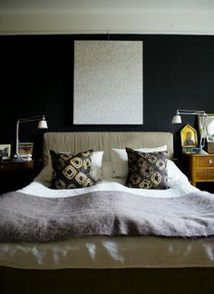 black bedroom walls