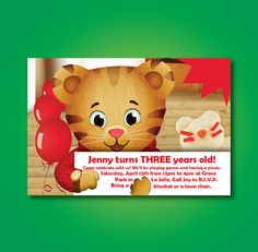 Daniel Tiger's Neighborhood Birthday Invitation - PBS