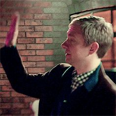 Drunk Watson going for a high five