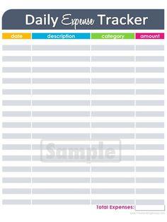 Worksheets Tracking Expenses Worksheet expense tracking worksheet sharebrowse daily tracker printable editable blank