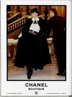 Vintage 1980s Chanel ad featuring French model Ines de La Fressange ( VIP Fashion Australia www.vipfashionaustralia.com - international clothing store )