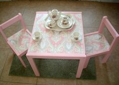 Adorable table that I found on etsy...can't wait until Ava can play tea!