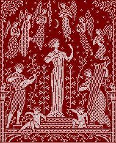 Celestial concert | chart for cross stitch or filet crochet.