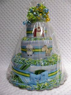 Baby Diaper Cakes John Deere Boys Shower Gift or Centerpiece.