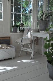 White wood floors
