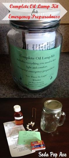 This is a great item to have with you in a 72 Hour Pack. It is a complete oil lamp kit.  www.SodaPopAve.com