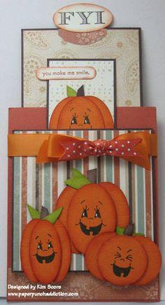 Pumpkin double slider open punch art