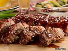 Raspberry Pepper Glazed Ribs - A fun twist on your typical ribs, this oven-baked dinner recipe is great for the whole family!