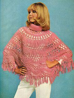 Hairpin Lace Poncho Pattern - Free Size patterns, crochet poncho, horquilla, collars, poncho pattern, crochet dream, hairpin crochet, hairpin lace, lace poncho