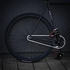 black #track #bike #fixed