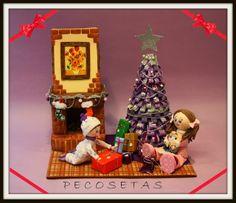 pecosetas: Fofuchas Escena de Navidad