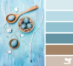 color palettes, design seeds, blues and tan paint colors, blue and tan bathroom, colour bathrooms, color pallets, tan and blue bathroom, master bedrooms, colour palettes