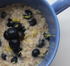 Dairy Free Lemon & Blueberry Oatmeal
