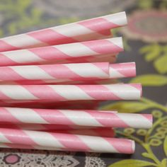 Pink Striped Paper Straws make perfect Cake Pop Sticks....♥