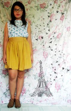 Qing's got stealable style... and an amazing idea for a DIY photo backdrop!