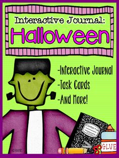 Halloween - interactive journal, task cards, and more!  Paid