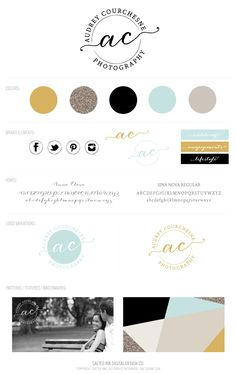 Audrey Courchesne Photography Brand by Salted Ink #logo #branding #brandingboard #brand