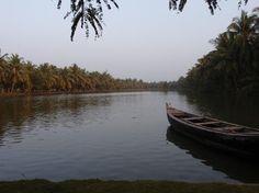 Konaseema Delta formed by River Godavari, a 2 hour drive from Rajahmundry, Andhra Pradesh.