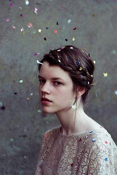 confetti hair.