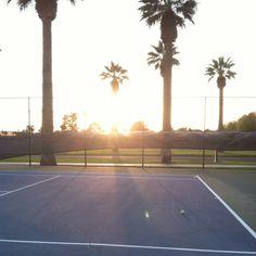 Tennis courts. <3