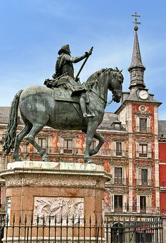 Felipe III in Plaza Mayor, Madrid, Spain