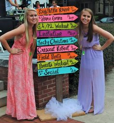 We love this for a Bid Day event. Use the names of upcoming new member programs and fun chapter events.