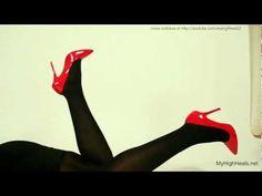 Red Stiletto High Heels outtake