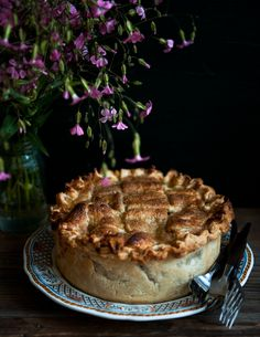 Desserts for Breakfast: Peach and Lemon Verbena Pie, and a virtual pie party!