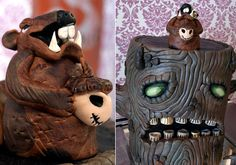 Organic cake: Spooky tree, 25 Halloween Dishes for an Extreme Halloween