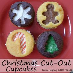 Helping Little Hands: Christmas Cut-Out Cupcakes