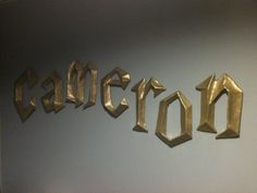 Harry Potter 3D Wall Letters by PaperMacheSculptures on Etsy, $10.00