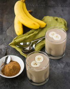 Simple and delicious method to make carmelized banana milkshakes.  Perfect for breakfast, dessert or even post workout.