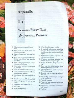 365 Writing Prompts art journal inspiration