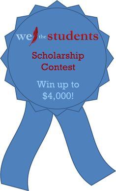 $4,000 We The Students Scholarship Contest. Deadline: Dec. 6