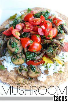 Mushroom Tacos - The Local Vegan // www.thelocalvegan.com