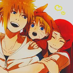 Naruto, Minato, and Kushina
